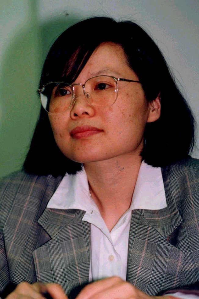 1991年,蔡英文總統當時為政大國貿系教授。(本報資料照片)