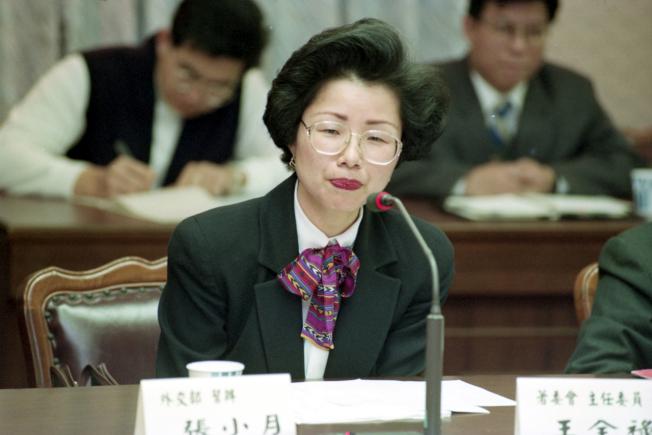 1993年,陸委會主委張小月當時為外交部幫辦。(本報資料照片)