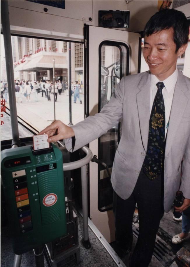 1995年,交通部長賀陳旦,當時為台北市交通局長。(本報資料照片)
