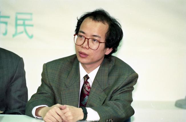 1994年,行政院政務委員張景森當時為台北市都市發展局長。(本報資料照片)
