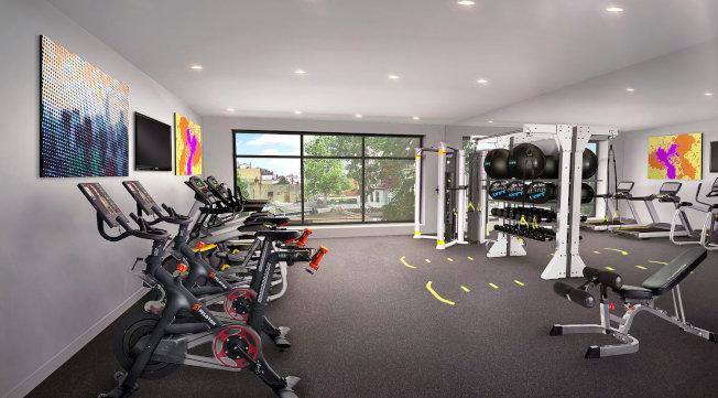 「Graffiti House」健身房等現代化設施俱全。(取材自官網)