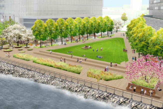 「Hallets Point」除了住宅,還將興建公園、遊樂場等設施。(取材自官網)