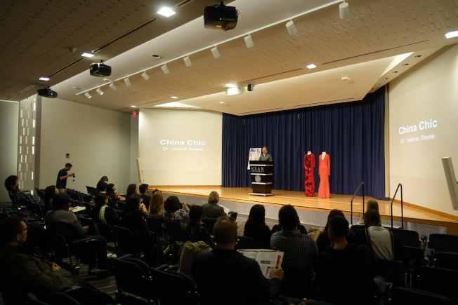 肯恩大學「中國在世界‧尖端時尚」論壇,探討中國時裝的歷史與現況。(記者謝哲澍/攝影)
