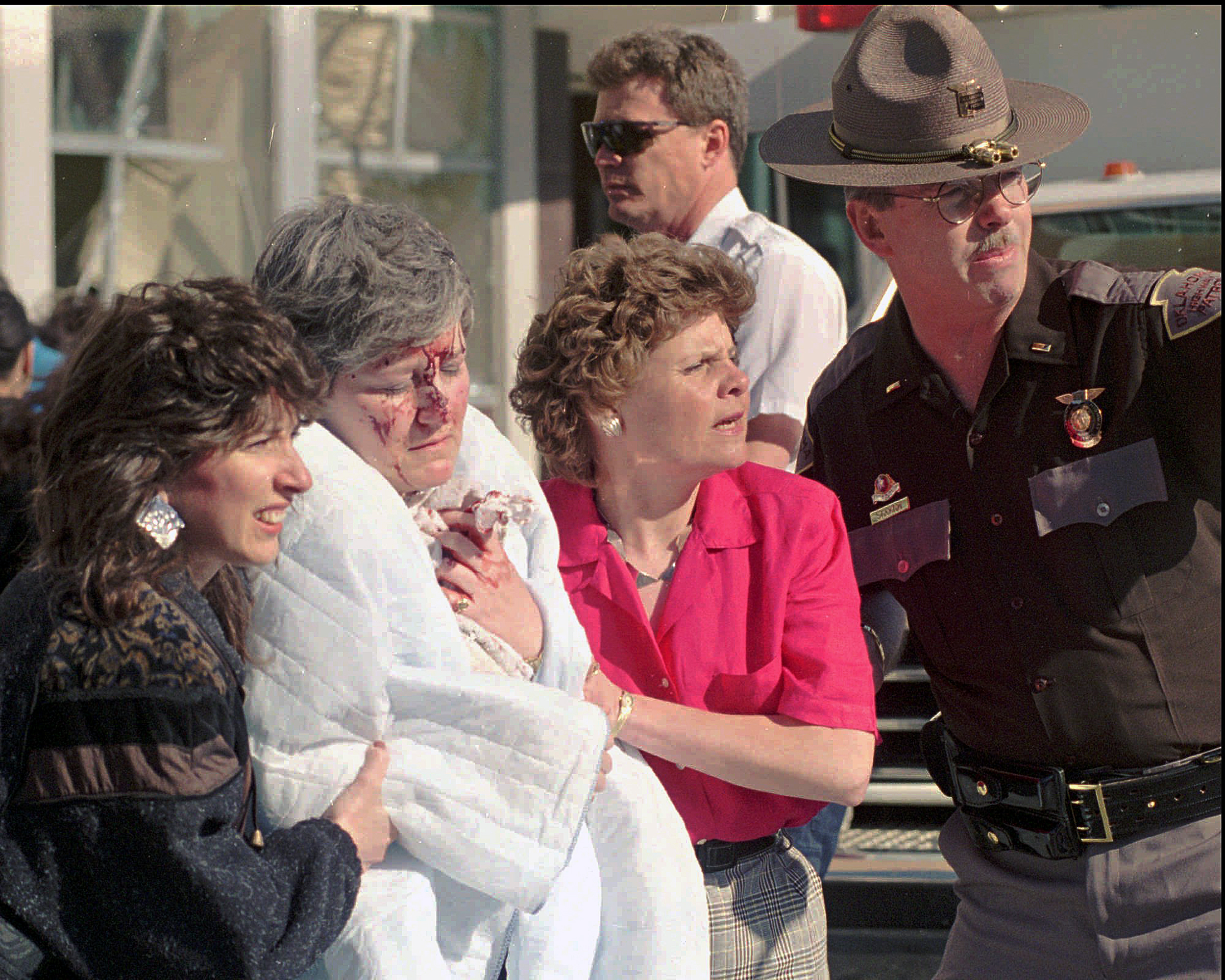800多人在Alfred Murrah 聯邦大樓爆炸中受傷。(美聯社)