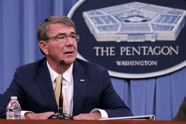 前國防部長卡特2日提醒北韓可能發動攻勢。(Getty Images)