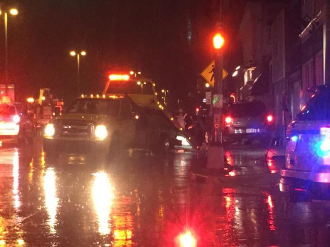 車禍現場路段,當天關閉了約三個小時。(WKOW新聞視頻截圖)