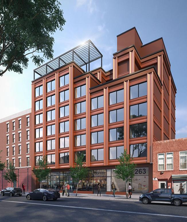 哈林區西126街263-267號大樓設計圖。(取自網路)