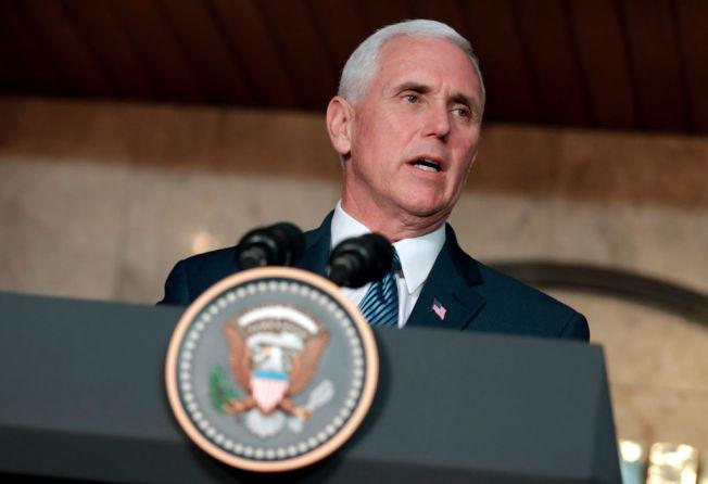 美國副總統潘斯。Getty Images