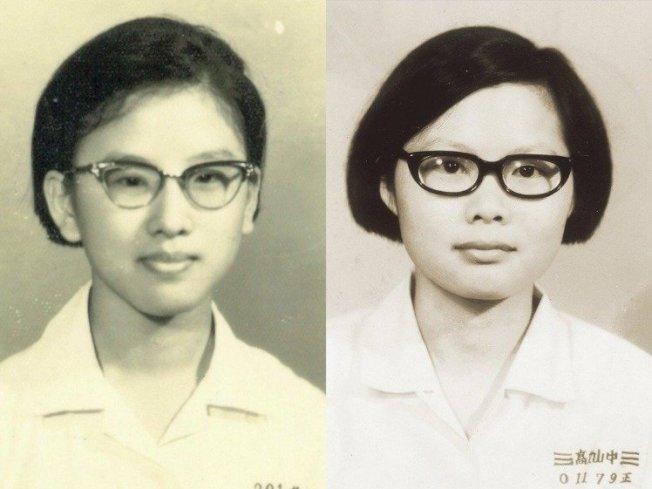 蔡英文(右)和洪秀柱(左)系出同校,都畢業於中山女高。報系資料照