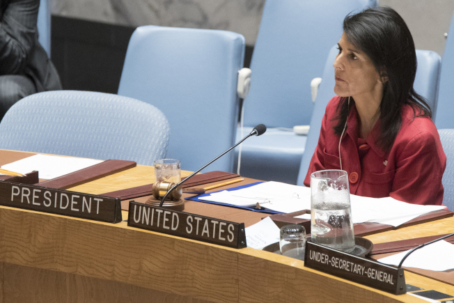 聯合國安理會譴責北韓射飛彈,圖為美國駐聯合國大使海理。(美聯社)