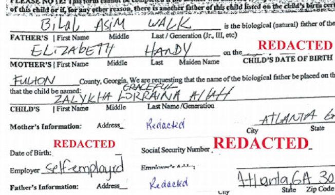 喬治亞州一對父母為2015年出生的女兒申請到以「阿拉」為姓氏的出生紙。(法院提供)