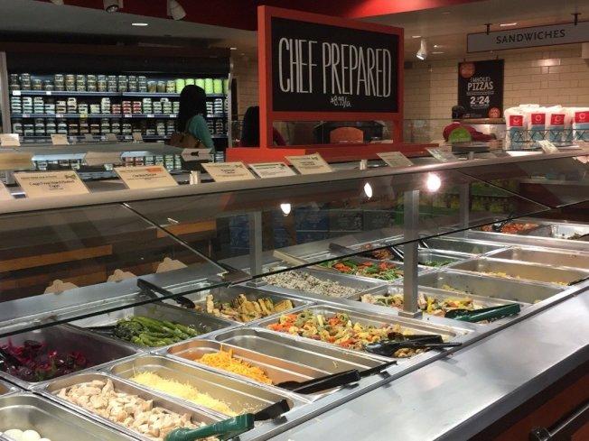 「grocerant」的食物區。 華盛頓記者張加/攝影