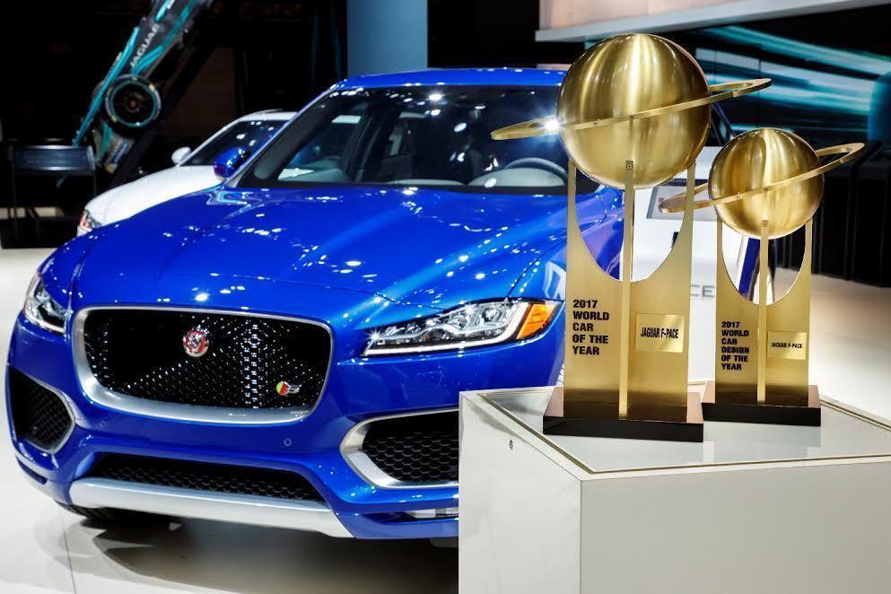 2017年度世界風雲車大獎(World Car Awards)由Jaguar旗下首款跑車型SUV F-PACE奪得。拿獎盃者為Jaguar Land Rover全球執行長Dr.Ralf Speth。 Jaguar提供