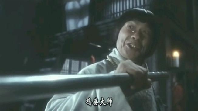 豬哥亮在「新少林五祖」裡有難得的武打場面。(截自youtube)