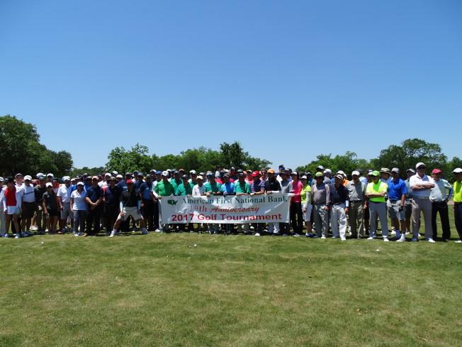 恆豐銀行第19屆「銀行杯高爾夫球賽」,近140位選手參加。