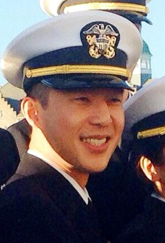 新州華裔海軍中尉林立杰在加州車禍身亡。(杜克大學)