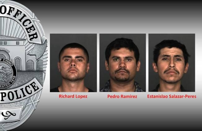 三名涉嫌在奇諾市作案超過50餘起的嫌犯。(奇諾市警方提供)