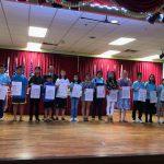 亞城中校書法賽 34生獲獎