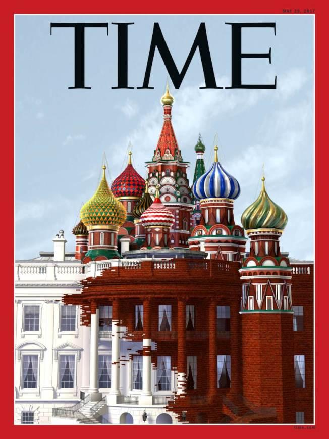 「白宮外牆被俄羅斯紅吞噬」 TIME最新封面譏川普