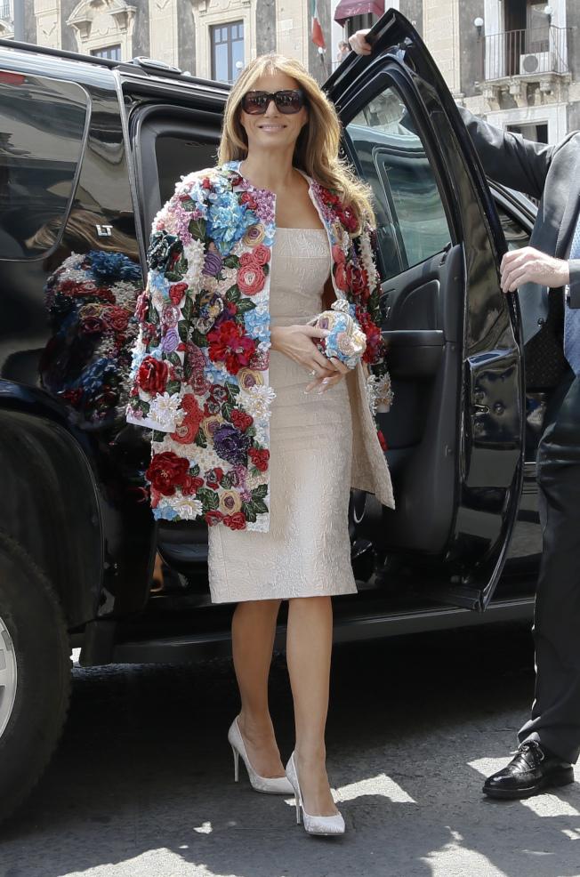G7第一夫人吸睛 模特儿艷冠群芳