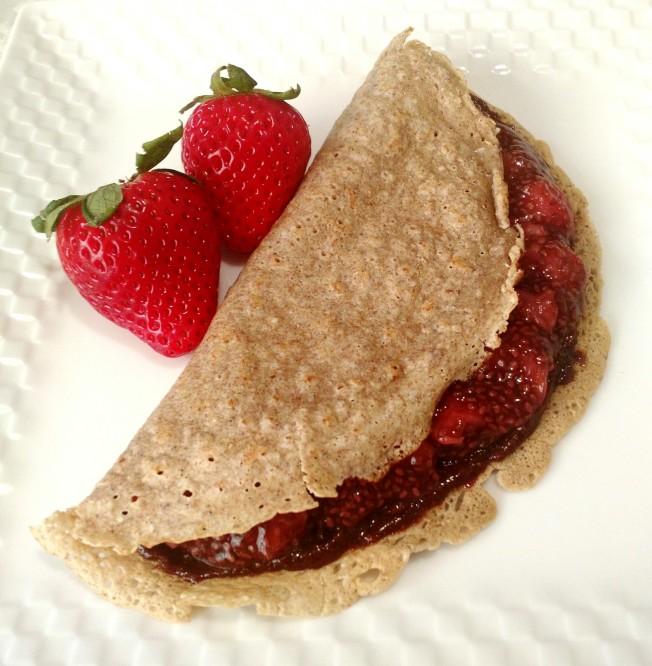 法式薄餅加上堅果巧克力醬