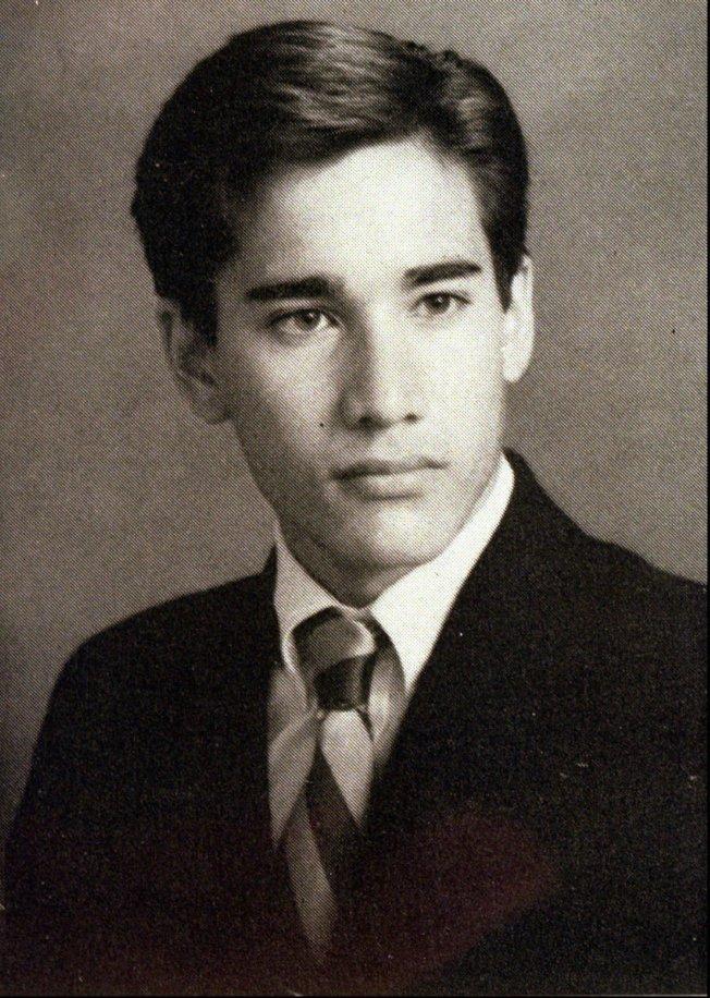 連環殺手庫安南1987年高中畢業紀念冊上的照片。(美聯社)