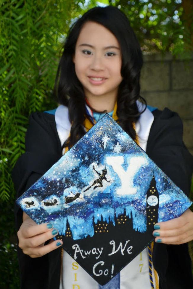 被八所常春藤大學同時錄取的華裔女生蕭靖彤選擇了耶魯(圖片由蕭靖彤提供)
