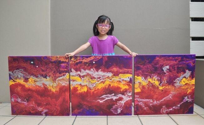 5歲女童恶心梵谷 賣出百幅畫作