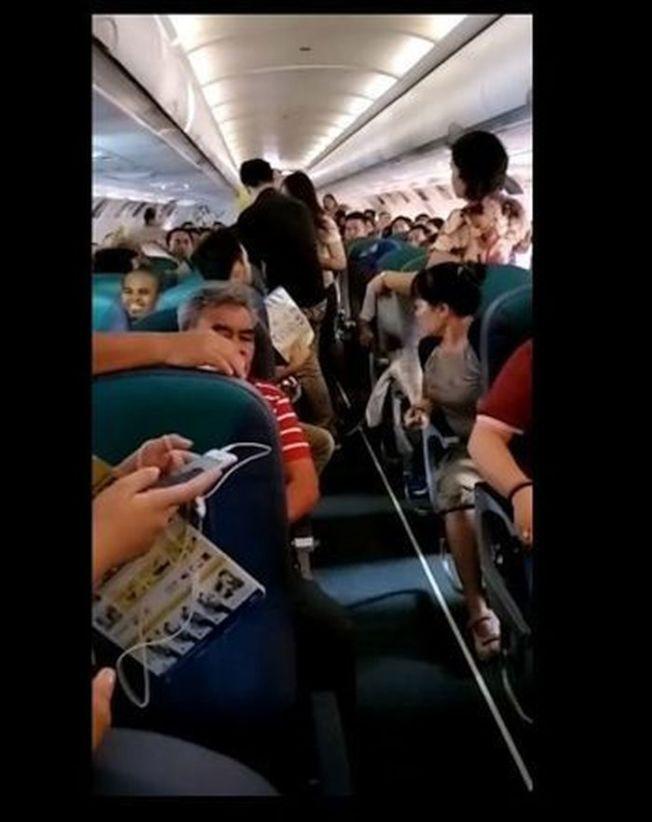 宿霧航空的班機空調故障,乘客怨聲載道。(取材自臉書)