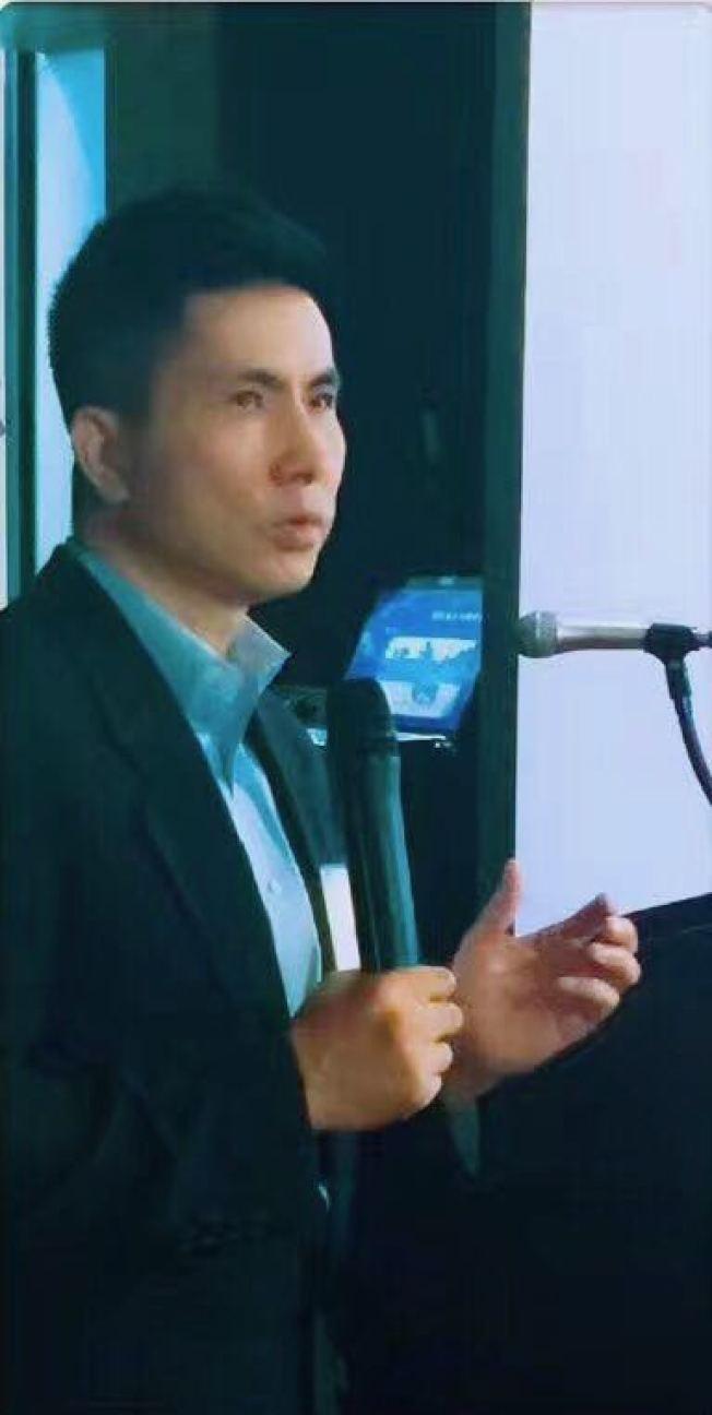 休士頓大學國際關係及東亞政治系副教授李堅強認為中巴建交是政治現實必然結果,是中國大陸與台灣實力此消彼長體現。(記者陳開/攝影)