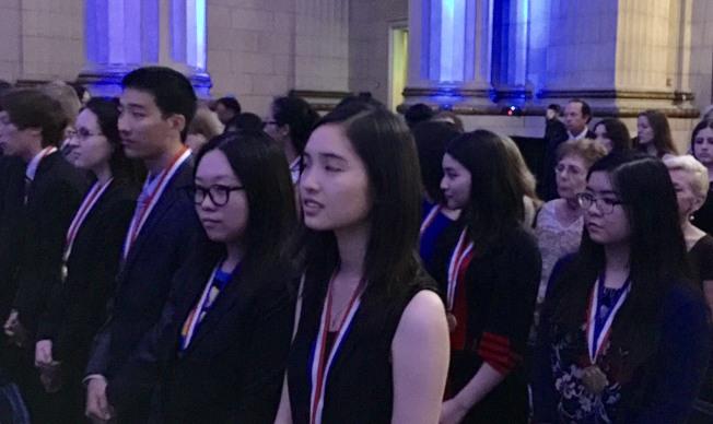 超過五分之一的總統學者獎得獎人是華裔學生。(特派員許惠敏/攝影)