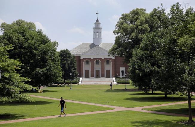 約翰霍普金斯大學,是美國東岸的名校。(美聯社)