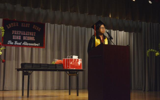 周健祺表示,畢業時才知道這個學校將在妳心中占據多麼大的空間。(記者俞姝含/攝影)