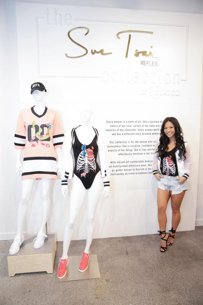 蔡書璇與時尚服飾品牌Six:02推出合作商品。(蔡書璇/提供)