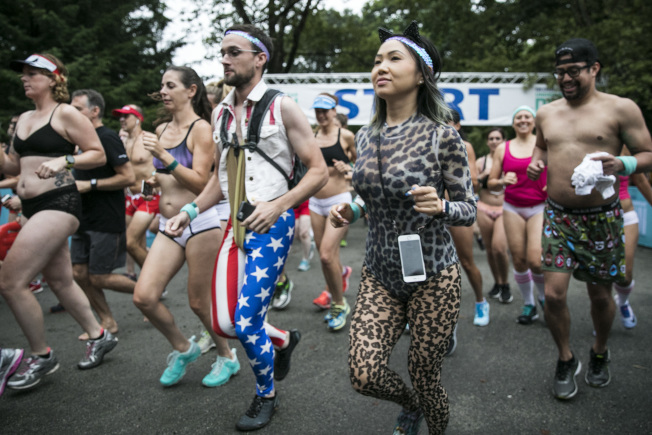 參與者們在起點開跑。(Getty Images)