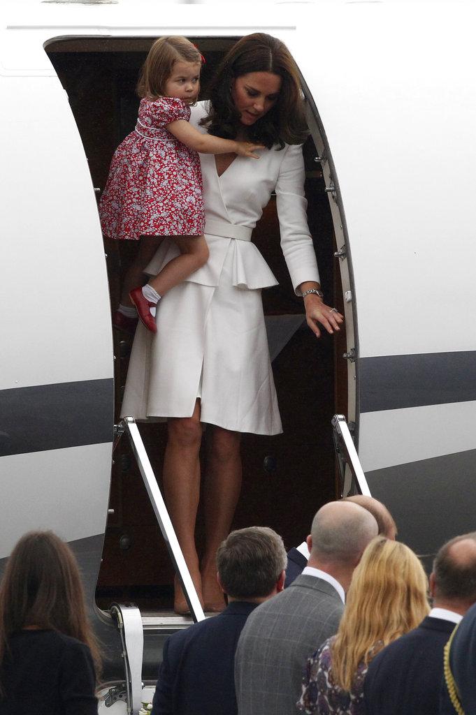 威凱訪波德 最萌兄妹喬治夏綠蒂也同行。美聯社