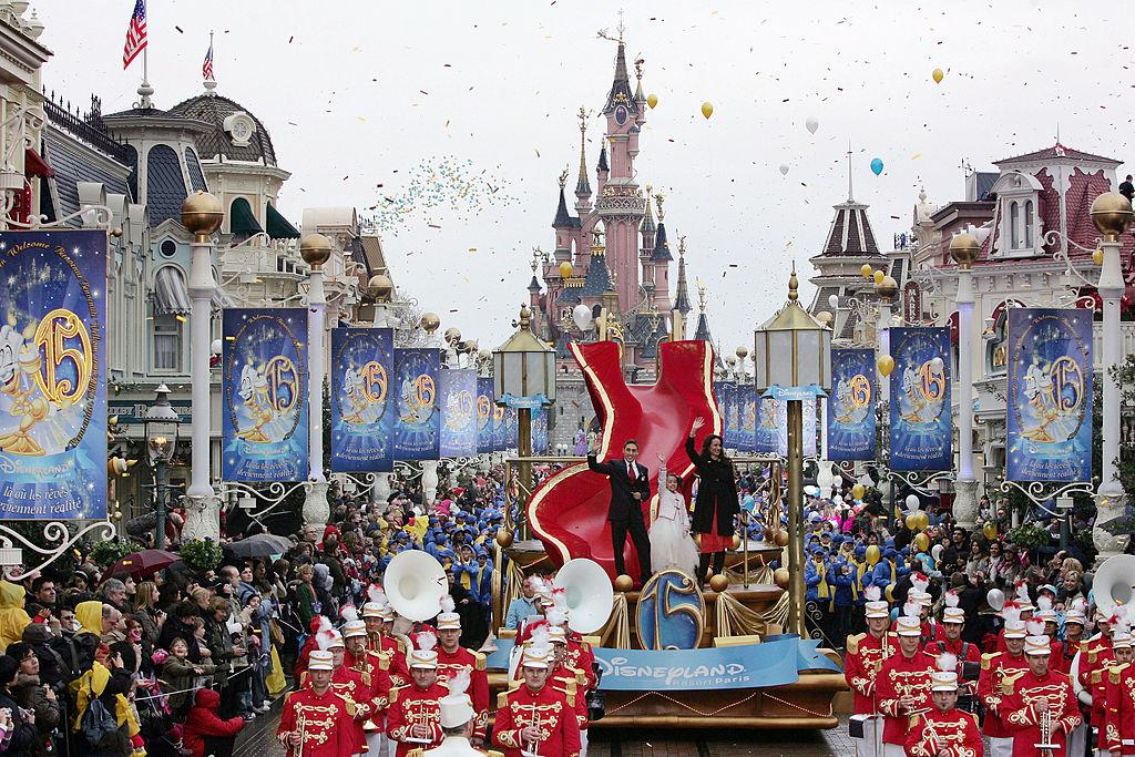 1992/4/12巴黎迪士尼樂園。(Getty Images)