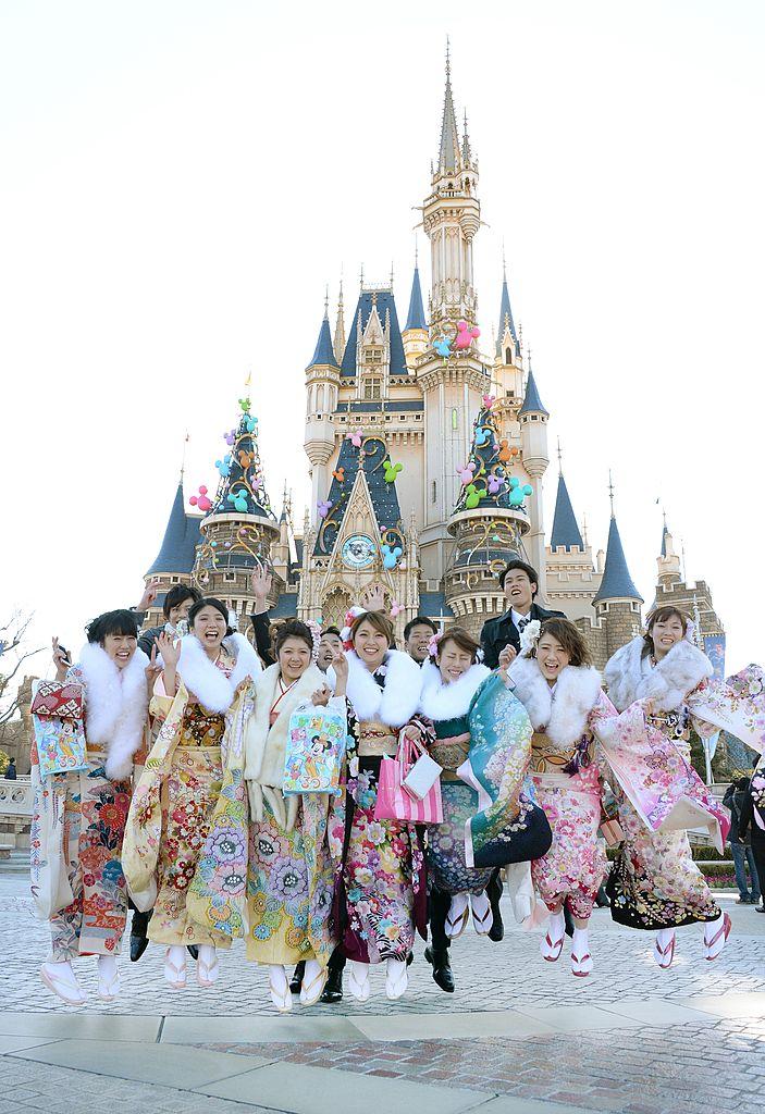 1983/4/15東京迪士尼樂園。(Getty Images)