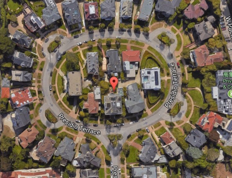 華裔夫婦買下的環形豪宅街。(取自谷歌地圖)