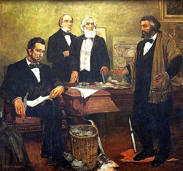 Password Journal Just 19 97: ƭ�史上的今天 1864年8月19日:林肯總統與兩位道格拉斯先生