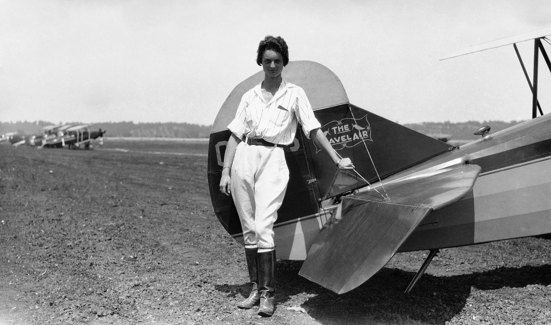 Louise Thaden 1930年1月攝於匹茲堡。(美聯社)