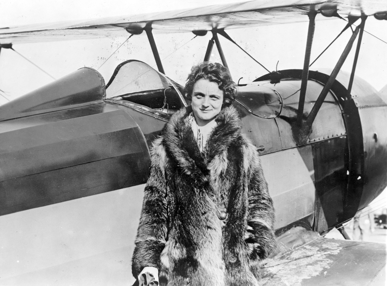 Louise Thaden 1929年8月8攝於加州奧克蘭。(美聯社)