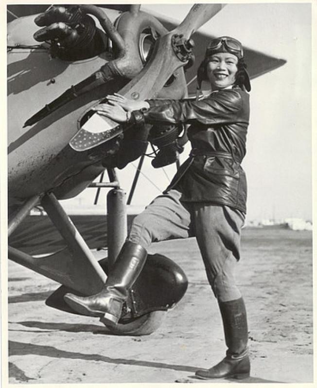 張瑞芬是首位取得飛行執照的華裔女性。(本報資料圖片)
