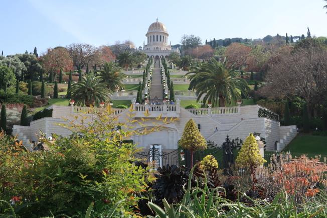 以色列海法市內巴哈伊世界中心的階梯花園,美輪美奐。