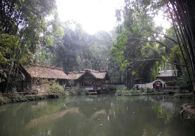 杜甫草堂博物館紀念公園景色。