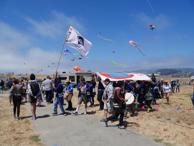 日本濱松市風箏隊也來參加盛會。
