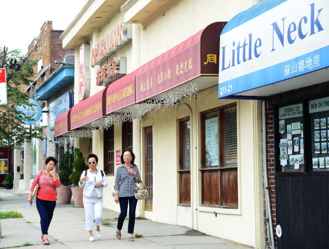 小頸北方大道發展成美食街。  (記者許振輝/攝影)