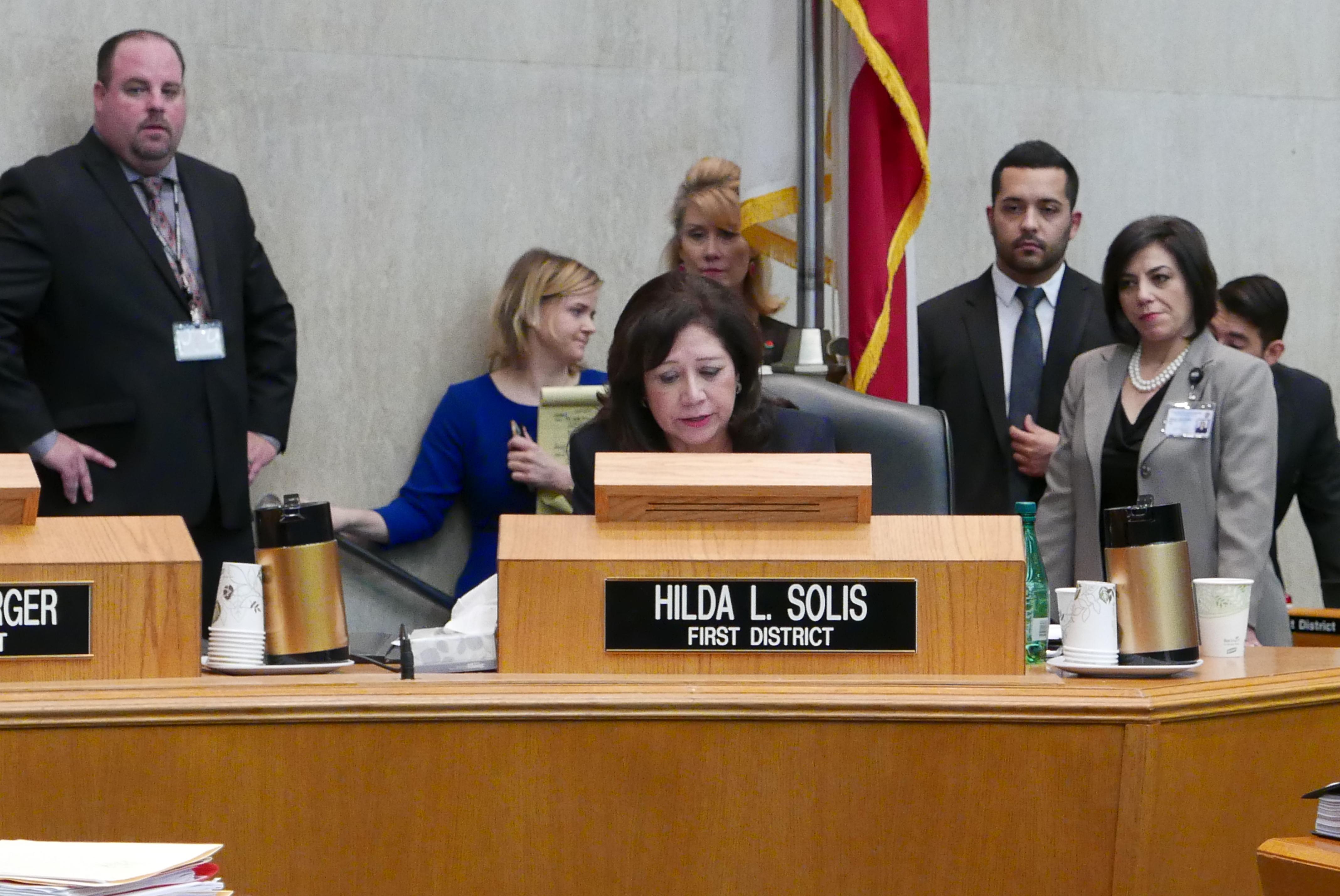提案由委員蘇麗絲提出,希望保護無證移民。(記者李雪/攝影)