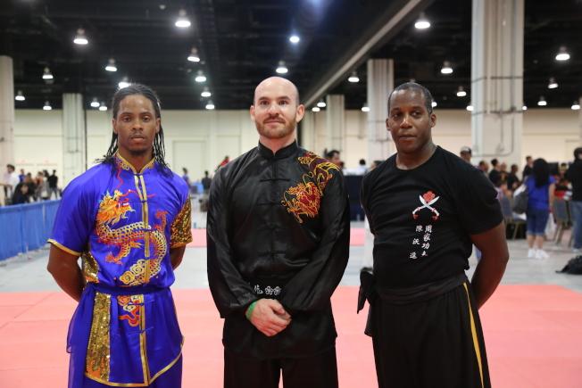 美國首都武術大賽的中國武術公開賽上,眾多選手都是來自世界各地的非華裔面孔。(記者羅曉媛/攝影)