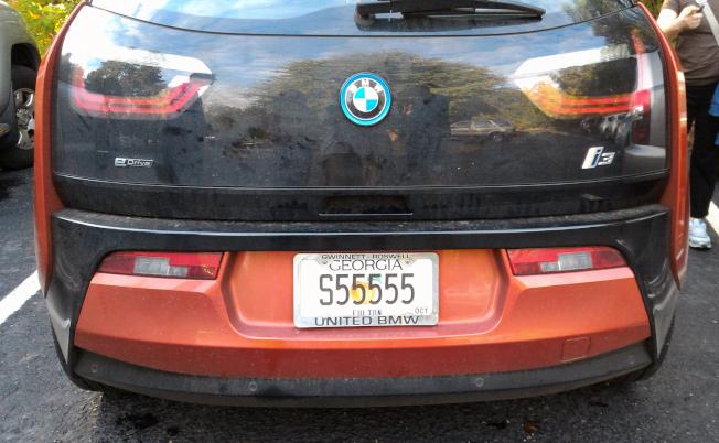 代表一路好到底的車牌「S55555」。(記者張蕙燕/攝影)